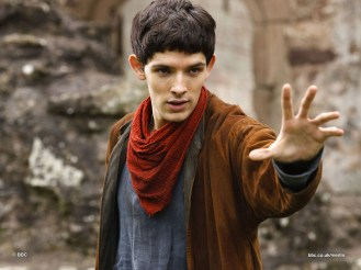 **THIS IMAGE IS UNDER STRICT EMBARGO UNTIL 00:01HRS 4TH DECEMBER 2008** Picture shows: Merlin (COLIN MORGAN). (c) Shine