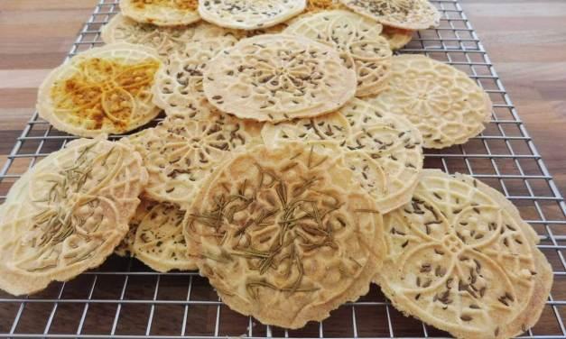 Grain Free Savory Pizzelles