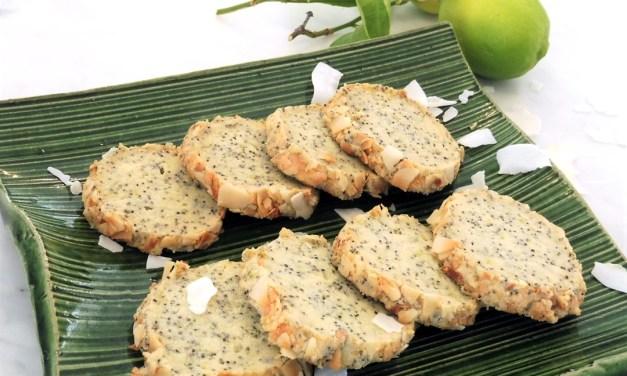 Lime Poppy Seed Grain Free Cookies
