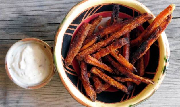 Sweet Potato Fries with Blue Cheese Dip
