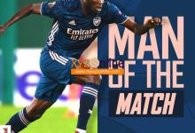 Photo of Partey wins first man of the match award in Arsenal