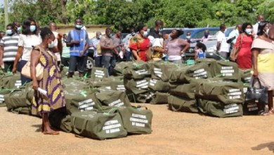 Photo of Ballot papers with duplicate serial numbers detected in Koforidua
