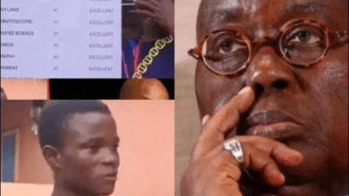 Photo of Akufo-Addo refused to give a poor brilliant student who scored 8A's in WASSSCE scholarship