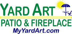 yard art patio fireplace lewisville