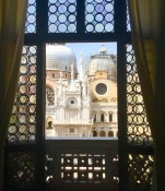 View from inside the Doge's palace.