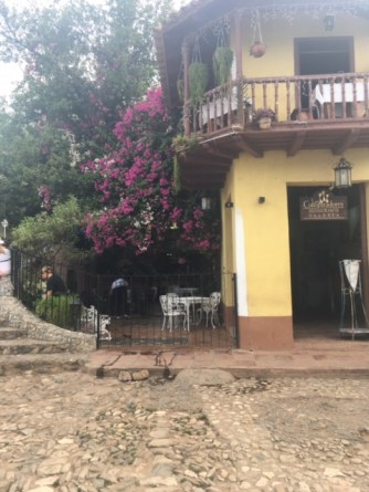 Cobblestone streets and stone stairs in Trinidad