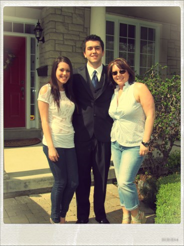 Amanda Nick and I before he takes off for his Prom