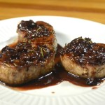 Pork Tenderloin Medallions With Dried Cherries And Rosemary Port Pan Sauce My Year Cooking With Chris Kimball