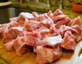 """1-1/2"""" pork chunks"""