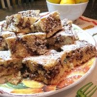 Chocolate 'n Walnut Streusel Coffee Cake