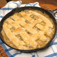 Got Leftovers?  Make a 'One Pan' Biscuit Topped Pie!