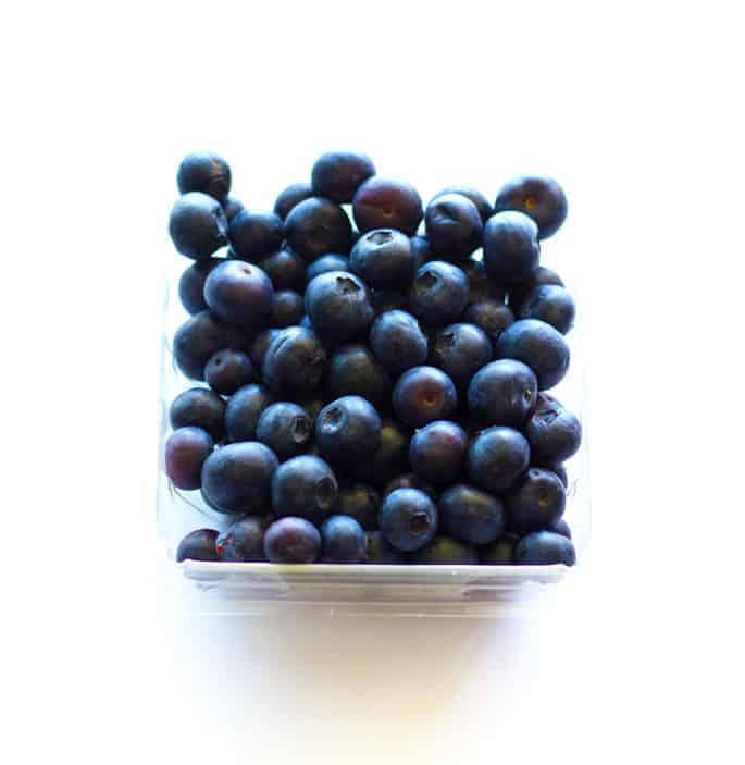 Fresh and in-season summer blueberries for Blueberry Greek Yogurt Pancakes