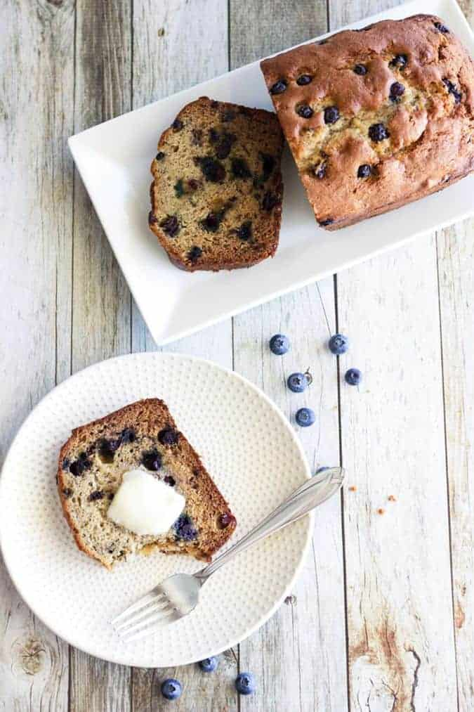 Use up those fresh, in-season blueberries. Make this simple and delicious Blueberry Banana Bread!