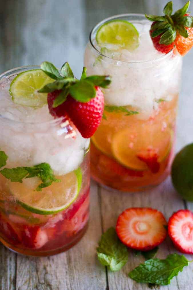 This simple recipe for Fresh Strawberry Mojitos is cool, light and oh-so refreshing!