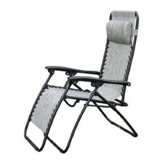 Zero Gravity Pool Chairs Upholstered Office Chair On Casters Outsunny Recliner Lounge Granite Grey