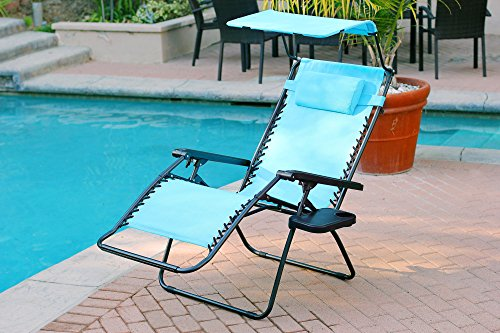 anti gravity chair table muskoka covers canada jeco turquoise oversized zero with sunshade