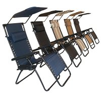 Sundale Outdoor Zero Gravity Chair with Canopy - Black OUR ...