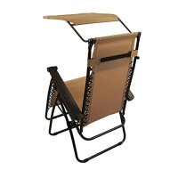Sundale Outdoor Zero Gravity Chair with Canopy - Tan OUR ...