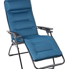 Lafuma Futura Xl Zero Gravity Chair Inflatable Water Chairs For Adults Air Comfort - Recliner Black Frame Coral Blue Fabric ...