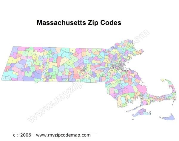 Massachusetts Zip Code Maps Free Massachusetts Zip Code Maps