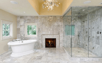 16 Ultra Luxurious Bathrooms With Fireplaces | Homes of ...