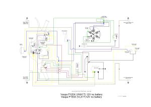 Wiring diagram kelistrikan Vespa