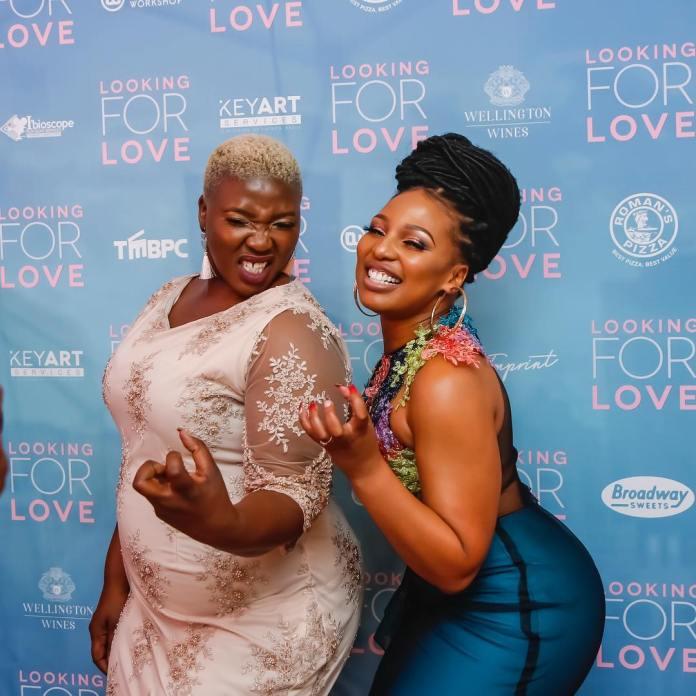 Phindile Gwala with Celeste Ntuli
