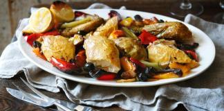 Italian roast chicken