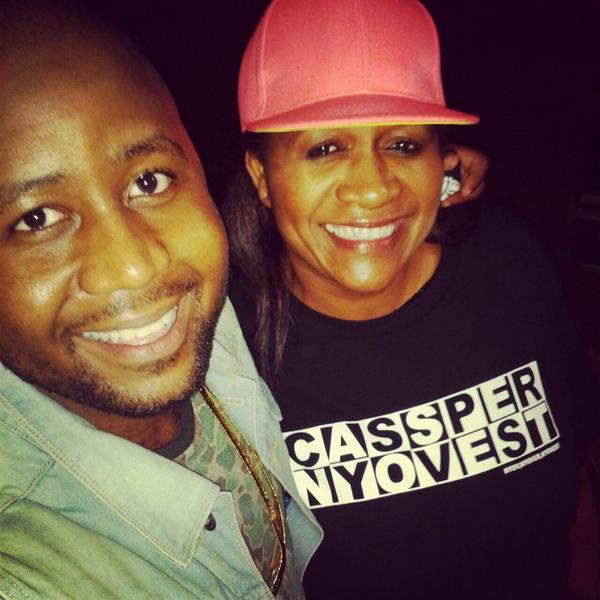 Cassper Nyovest and his mom