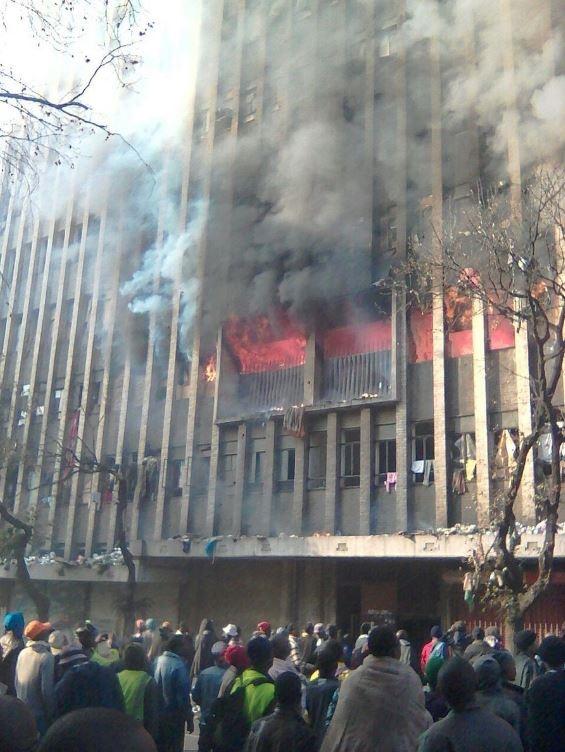 Joburg Building Fire