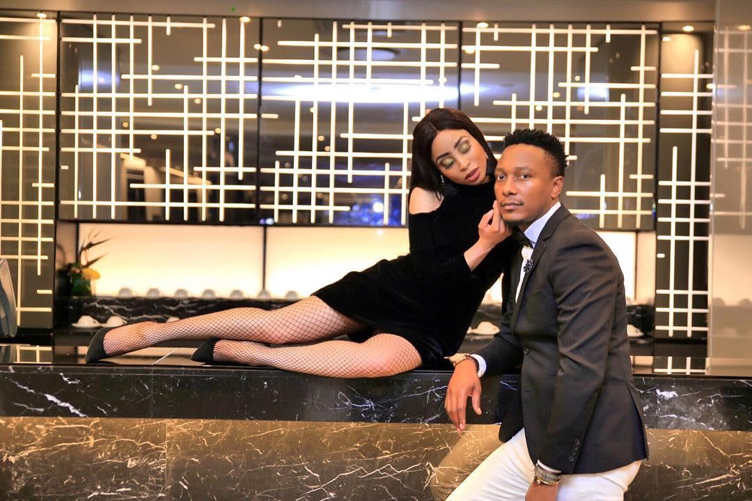 Khanyi Mbau with boyfriend