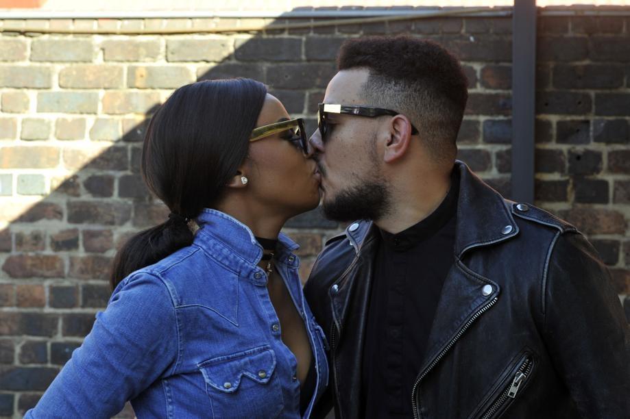 Aka and Bonang sharing a Kiss