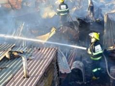 fire in Sandton