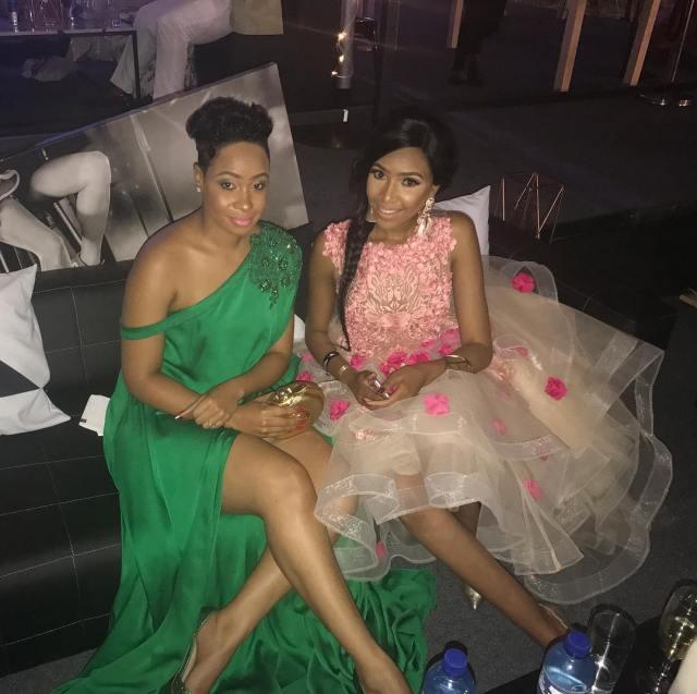 Pokello and Blue Mbombo at Durban July