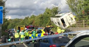 M25 coach crash