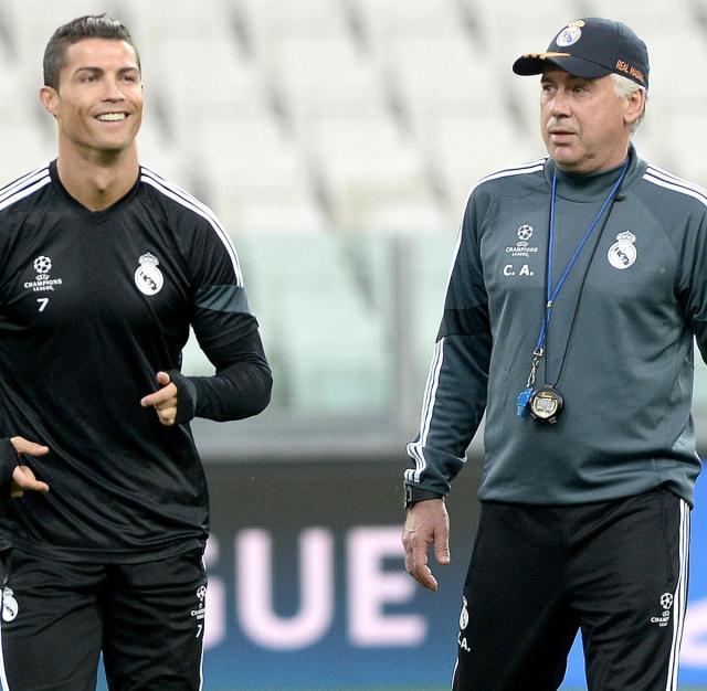 Cristiano and Ancelotti