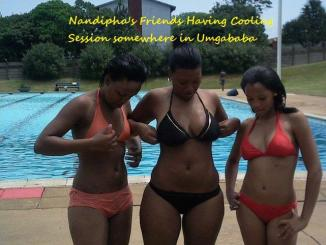 Nandipha with Pretoria bikini girls at Umgababa
