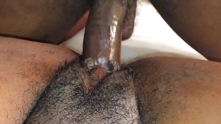 Deep Inside Fat Hairy Black Milf Pussy
