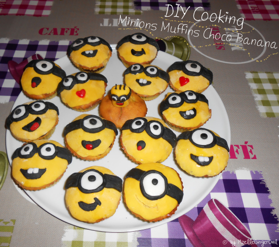 DIY Cooking : Minions Muffins Choco Banana