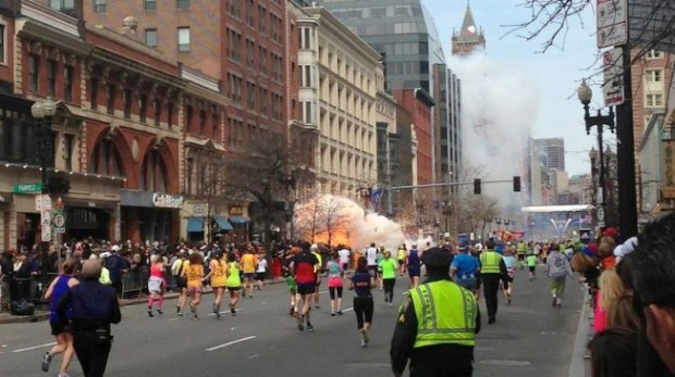 Explosion at the 117th Boston Marathon, Boston, America - 15 Apr 2013