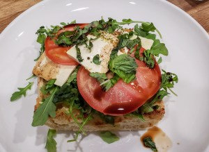 tofu-caprese-on-ciabatta-arugula-balsamic
