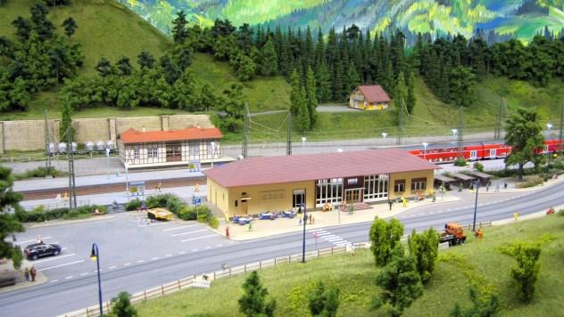 Bahnhof Hornberg auf der Schwarzwald Modellbahn