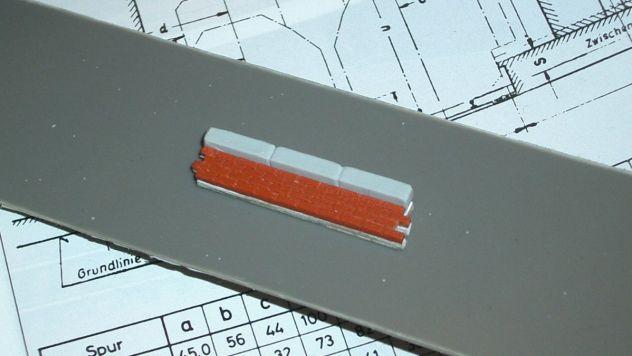 Rohling (Bahnsteigkante Spur N) für eine Silikonform