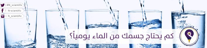 كم يحتاج جسمك من الماء