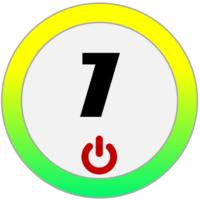 Das Bild zeigt die Zahl sieben.