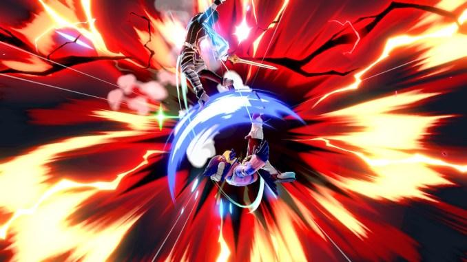 Das Foto zeigt, wie Falco seinen letzten Kick gegen Chrom ansetzt und dieser nach oben in die Deadzone befördert.