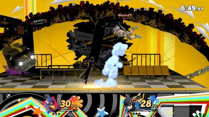 Das Foto zeigt, wie Joker Falco nach oben schleudert.