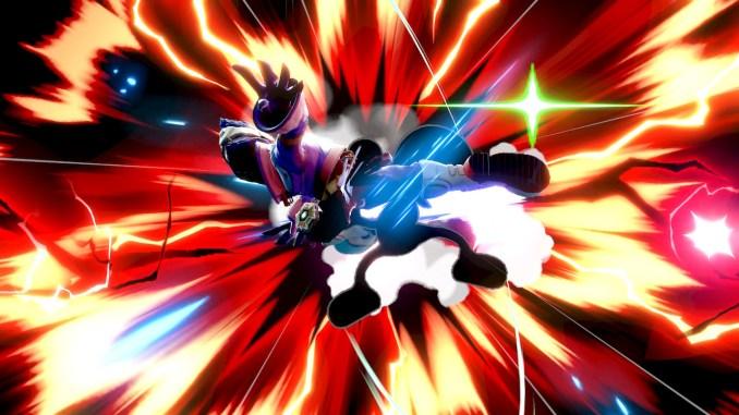 Das Foto zeigt Falcos finalen Kick gegen Mr. Game&Watch.