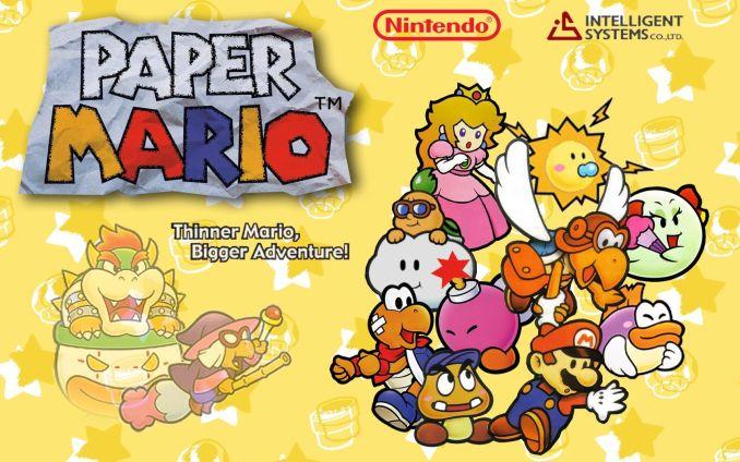 Das Bild zeigt ein Artwork zu Paper Mario auf dem N64