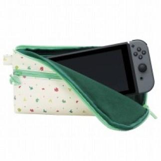 Ein neues Zubehör, eine Tasche im Animal Crossing-Design ist abgebildet. Eine Nintendo Switch passt rein.